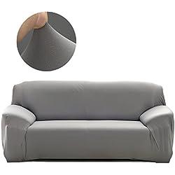 Cornasee Housse de canapé Extensible 2 Places avec accoudoirs,Revêtement de Canapé,Gris