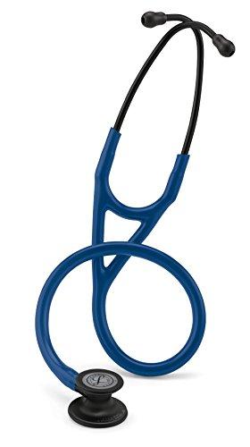 3M Littmann 6168 Cardiology IV Stethoskop, Black-Edition Bruststück, marineblauer Schlauch, schwarzer Schlauchanschluss und Ohrbügel, 69cm -