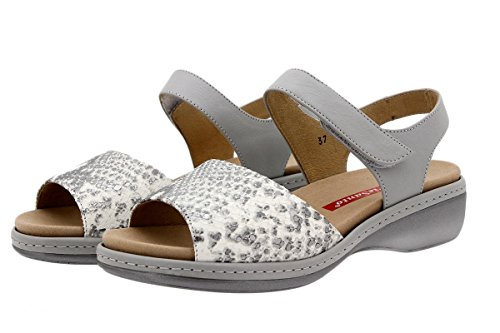 Komfort Damenlederschuh PieSanto 1807 Sandale mit herausnehmbarem Fußbett bequem breit Natural