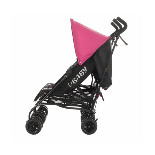 Obaby Apollo Black & Grey Twin Stroller (Pink) Obaby Suitable from birth to a maximum weight of 15kg Independently adjustable multi position seat units Independently adjustable hoods 3