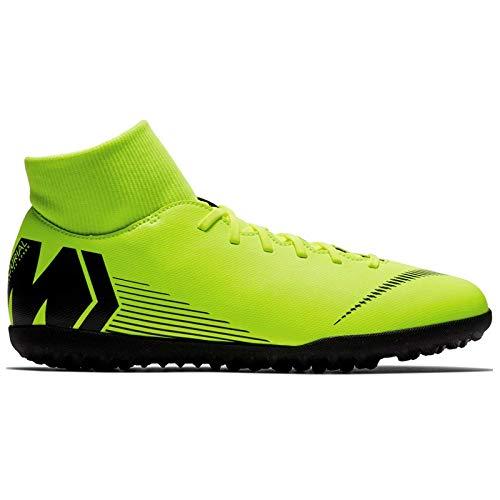 Nike Herren MercurialX Superfly VI Club Turf Fußballschuhe Gelb (Volt/Black 701) 42 EU - Turf Für Männer Nike Schuhe