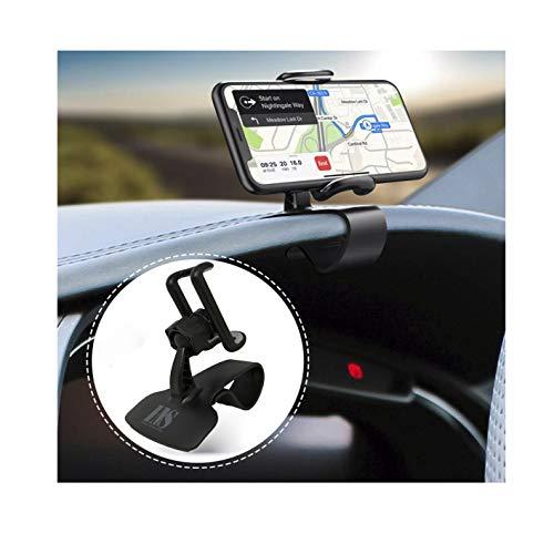 rsal-Halterung für Armaturenbrett, einfache Halterung, Halterung für Handys, GPS, Schwarz ()