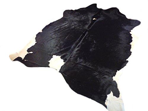 Tapis Peau De Vache Luxe - Noir et Blanc Classique - 225 cm x 211 cm Déco Tapis Intérieur de Narbonne Leather Co