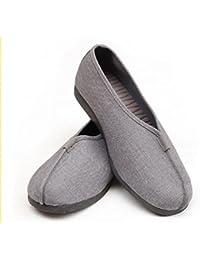 Zapatillas de Kung Fu, para monje Shaolin de artes marciales, unisex, de la marca ZooBoo, gris, 8,5 UK