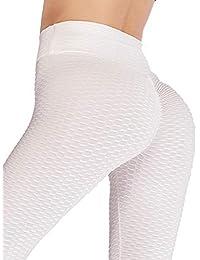 b302c8a91d3041 DODOING Damen Leggings Jogginghose Sport Yoga Hose Frauen High Taille  Leggins Geraffte Butt Lifting Push Up