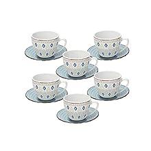 Tognana Casablanca Set 6 Tazze caffè, Porcellana