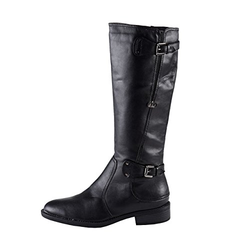 Vivality Damen Langschaft Stiefel schwarz Braun