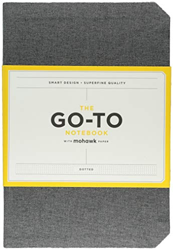 Go-To Notebook with Mohawk Paper, Slate Grey Dotted por Chronicle Books
