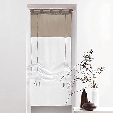 Rideaux 45x180 - Store bicolore 45x180cm
