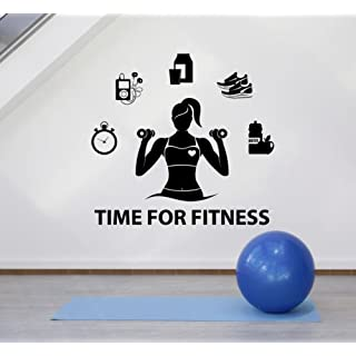 Hannah66Wind Vinyl House Home Office Classroom Sticker Wall Decal Fitness Girl Motivation Gym Healthy Lifestyle Stickers