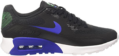 Nike  Wmns Air Max 90 Ultra 2.0, chaussure de sport femme Noir (Black/Paramount Blue/White/Stadium Green)