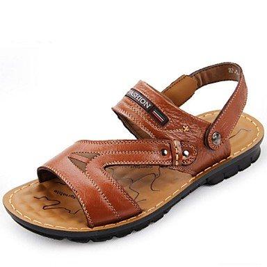Outdoor Brown Sandalen casual Leder gelb khaki Herrenschuhe Braun 0qd7x0Cw