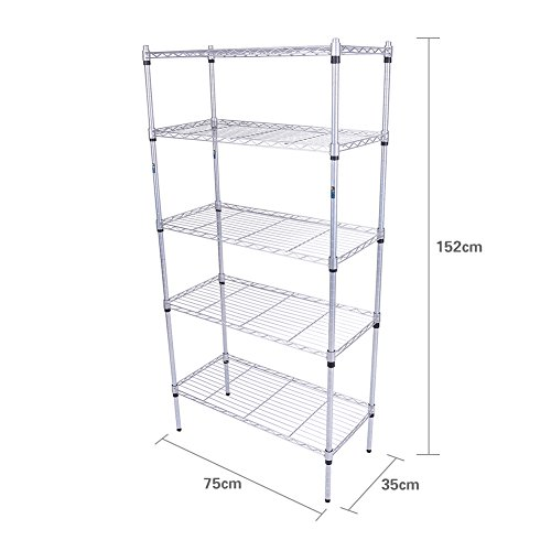 5-Tier Storage Shelves, Steel Sh...