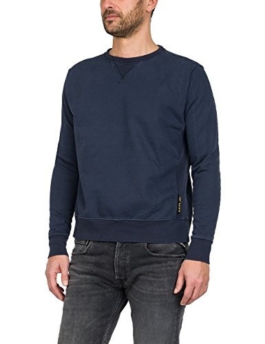 Replay Herren Sweatshirt M3675 .000.22512, Blau (Blue 86), Medium (Urban Icon-t-shirt)