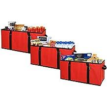 Earthwise reutilizable bolsas de compras caja Extra grande bolso plegable bolsa con fondo de refuerzo plegable