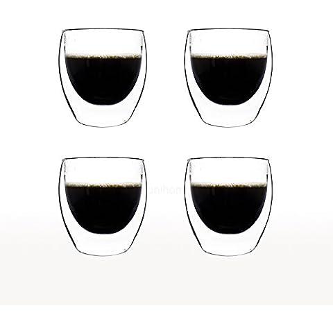 Witch–Taza de café expresso Taza de cristal transparente regalo doble pared 200ml–Azzinoth unihom, vidrio,