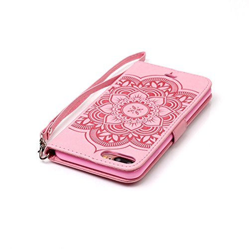 Stand Hülle für iPhone 7 Plus,Wallet Hülle für iPhone 7 Plus,Flip Hülle für iPhone 7 Plus Lederhülle Handyhülle TPU Tasche Case,EMAXELERS Cool Reifen Muster iPhone 7 Plus 5.5 inch Hülle stoßfest Schwe Campanula 2