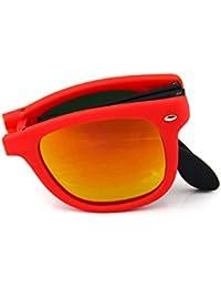DALUCI Retro Vintage Portable Foldable Polarized Sunglasses For Men Women