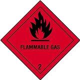 Juego 4 Etiquetas de Señalización IMDG-ADR Clase 2.1: Flammable Gas300x300 mm