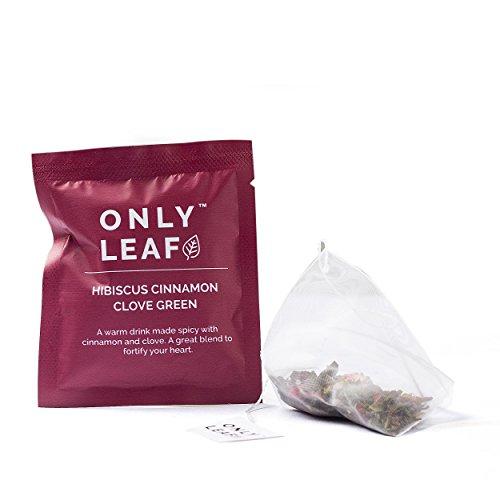 Onlyleaf Hibiscus Cinnamon Clove Green Tea, 27 Tea Bags with 2 Free Exotic Samples