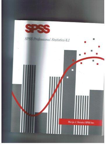 SPSS PROFESSIONAL STATISTICS 6.1 par Marija J. Norusis