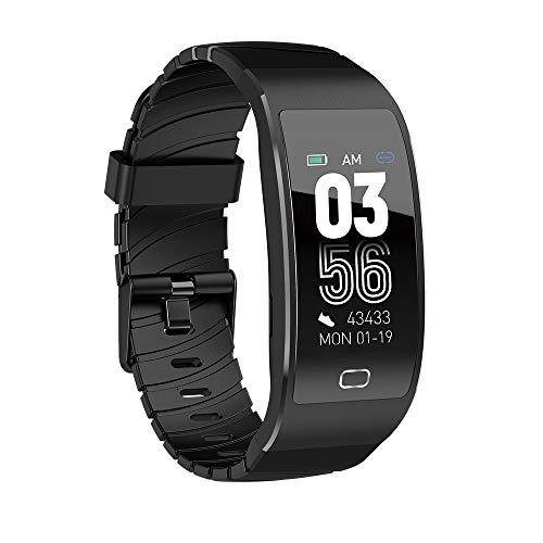 SZHAIYU Bluetooth Smart Watch IP68 Wasserdichte Herzfrequenz Monitor Farbdisplay Smartwatch Frauen Armband (Black)