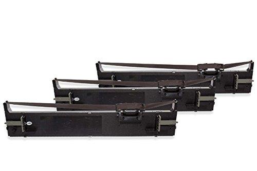 Preisvergleich Produktbild vhbw 3x Farbband Nylonband Tintenband Nadeldrucker Epson LQ-680, LQ-680K, LQ-690, LQ-690K, LQ680, LQ680K-II, LQ690 wie C13S015610, S015610.