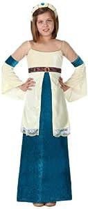 Atosa-15873 Disfraz Dama Medieval, Color Azul, 5 A 6 Años (15873)