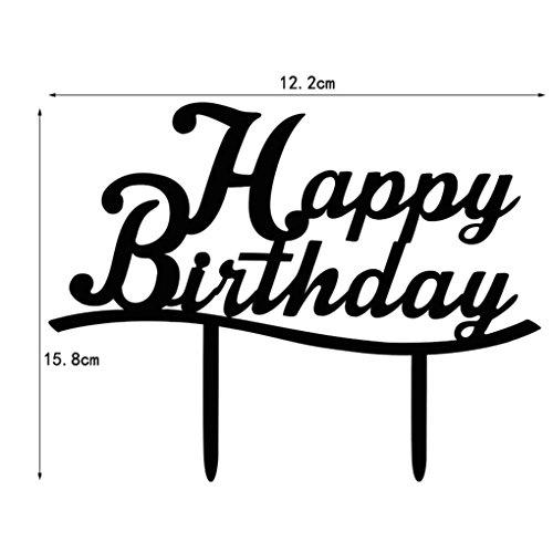 Sunlera Acryl Alles Gute Zum Geburtstag Kuchen-Deckel-Kuchen-Standplatz für Geburtstags-Party-Dekoration