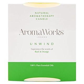 AromaWorks Unwind Basil & Orange Candle