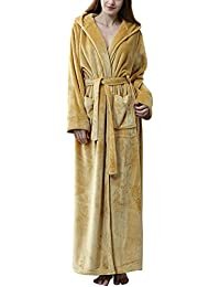 c900b0c5d3 Womens Luxury Soft Flannel Dressing Gown Ladies Bathrobe Full Long Fluffy  Nightwear Housecoat Towelling Robe