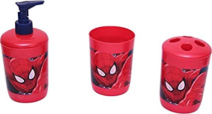 Disney & Marvel Spiderman Princess Pooh 3 Piece Dispenser Bathroom Set 300 ml Multicolour