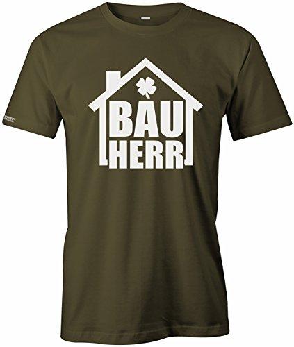 Bauherr - Bau Herr - HERREN T-SHIRT Army