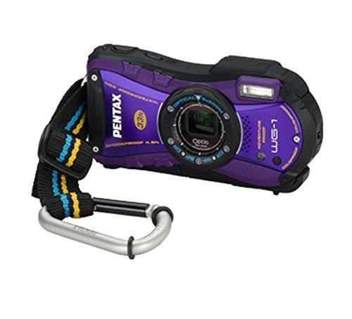 'Pentax Optio WG-1GPS Appareil Photo Numérique Compact 14MP 1/2.3CCD 4288x 3216pixeles Noir, Violet–Appareil Photo Numérique (14MP, 4288x 3216pixels, cCD, 5x, HD, Noir, Violet)