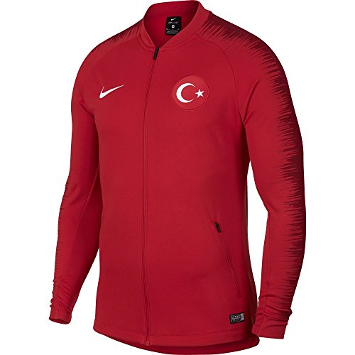 Nike Herren Turkey Anthem Football Jacke University Tough red/White, M