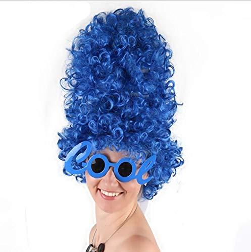 Marge Simpson Hohe Blau Locken Perücke für Halloween Kostüm Partei Liefert (Blaue Perücken Kostüm)