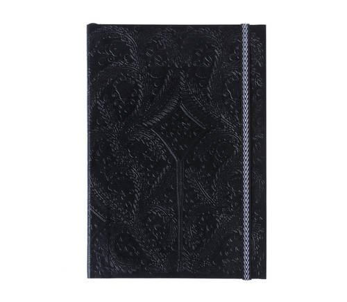 B5 Paseo Embossed Notebook Black por Christian Lacroix