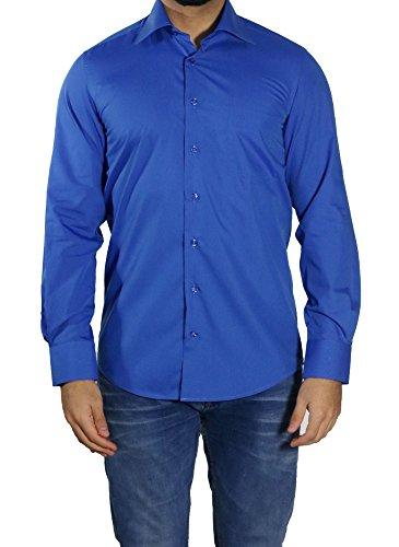 MUGA -  Camicia classiche  - Basic - Classico  - Maniche lunghe  - Uomo Blau