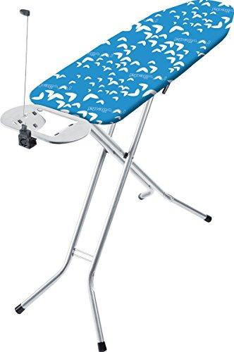 Vileda Viva Express Eco Bügeltisch blau - 120x38 cm große, dampfdurchlässige Bügelfläche - Anti-Rutsch-Füße für mehr Halt auf glatten Böden