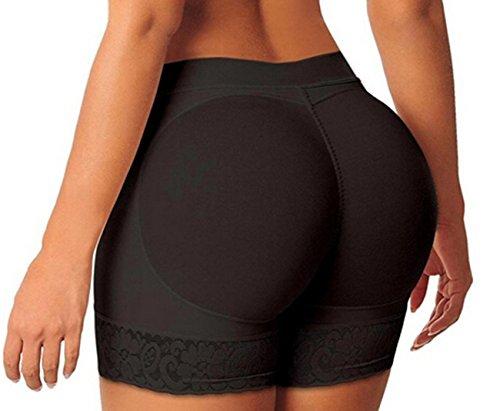 Beute Shaper (Damen Hintern Lifter Shaper Bauch Control Slip Po öffnen Instan Boyshorts (EU 32/ S, Schwarz))