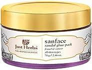 Just Herbs Sanface Skin Tightening Sandalglow Herbal Face Pack for All Skin Type, SLS & Paraben Free - 7