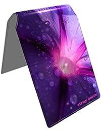 Stray Decor (Purple Flower) Étui à Cartes / Porte-Cartes pour Titres de Transport, Passe d'autobus, Cartes de Crédit, Navigo Pass, Passe Navigo et Moneo