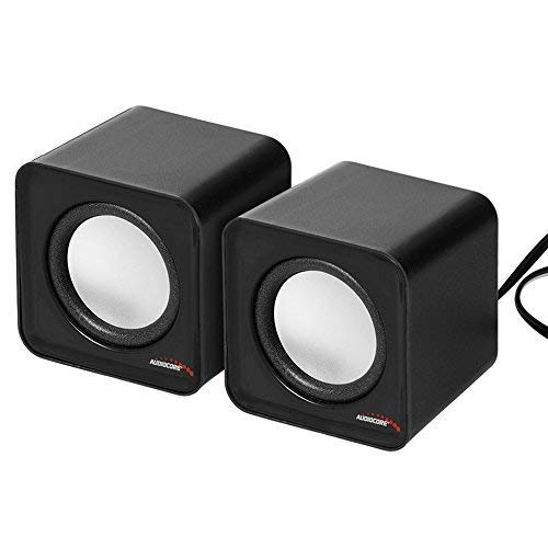 Audiocore AC870 Kompakt Stereo-Lautsprecher 2.0 PC 2x3 Watt RMS Schwarz