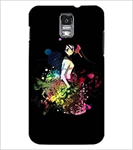 PrintDhaba Sweet Girl D-3367 Back Case Cover for SAMSUNG GALAXY S5 (Multi-Coloured)