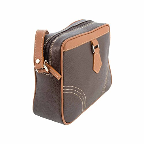 Borsa in pelle Quadrato MARRON/CUERO