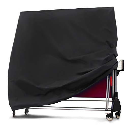 Tragbare Tischtennis tischdecke, gartenmöbel Abdeckung Outdoor schwarz wasserdichte Jacke 165x70x185cm