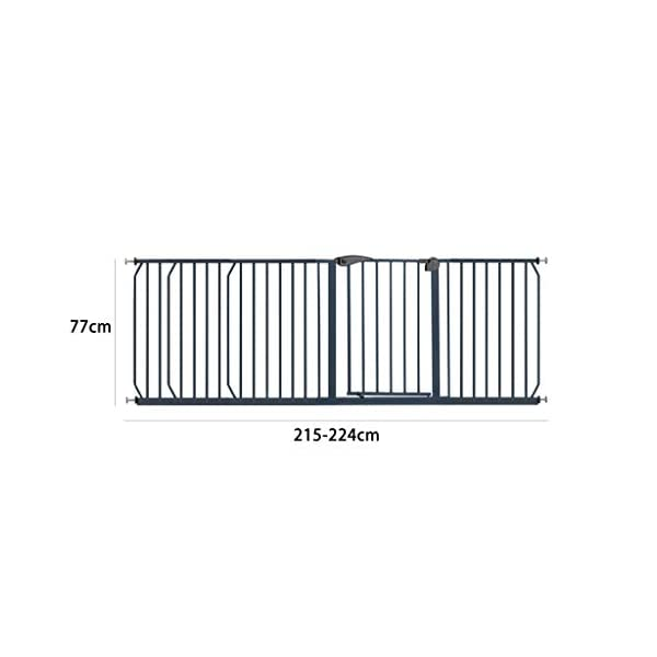 Safety Gate HUYP For Children For Dogs Extensions Stairs Fence Pet Dog White (Size : 215-224cm) Safety gate  2