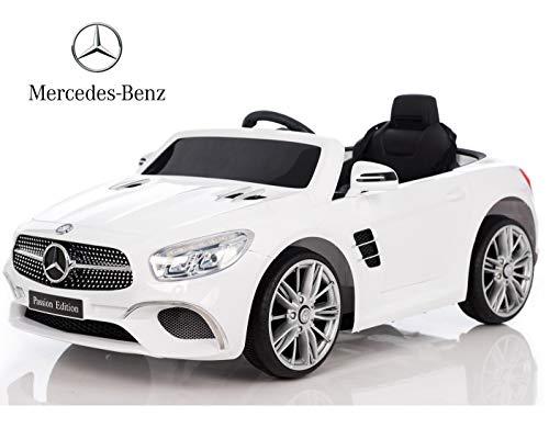 BC BABY COCHES Coche eléctrico niños 12v con Mando Mercedes SL400 (Blanco)