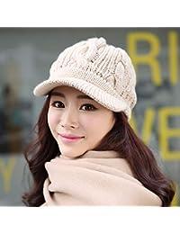 60dc05868899d YIERSANSI Chica de Invierno Sombrero Gorro de Sombrero de Punto  Engrosamiento Calido Invierno Protectores
