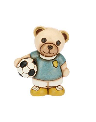 Thun teddy con pallone da calcio (bomboniera), ceramica, h 8,3 cm